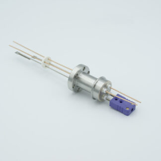 1 pair Thermocouple type-E and 1 pair copper feedthrough 1000V, with TC connectors included, DN19CF flange