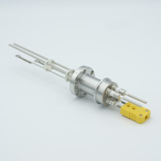 1 pair Thermocouple type-K and 1 pair nickel feedthrough 5000V, with TC connectors included, DN19CF flange