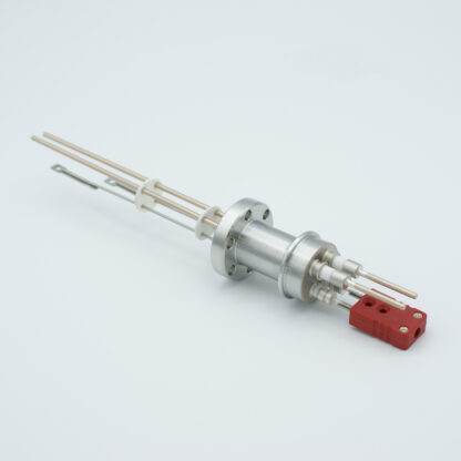 1 pair Thermocouple type-C and 1 pair copper feedthrough 5000V, with TC connectors included, DN19CF flange
