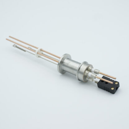 1 pair Thermocouple type-J and 1 pair copper feedthrough 5000V, with TC connectors included, DN16KF flange