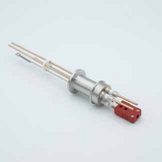 1 pair Thermocouple type-C and 1 pair copper feedthrough 5000V, with TC connectors included, DN16KF flange