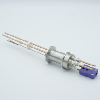 1 pair Thermocouple type-E and 1 pair copper feedthrough 5000V, with TC connectors included, DN16KF flange