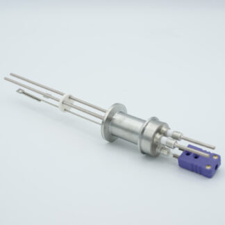 1 pair Thermocouple type-E and 1 pair nickel feedthrough 5000V, with TC connectors included, DN16KF flange
