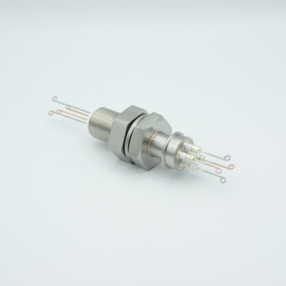2 pair Thermocouple type-T feedthrough with both side connectors included, base plate fitting