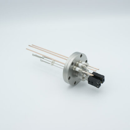2 pair Thermocouple type-J and 3 copper power pins feedthrough 5000V, with TC connectors included, DN40CF flange