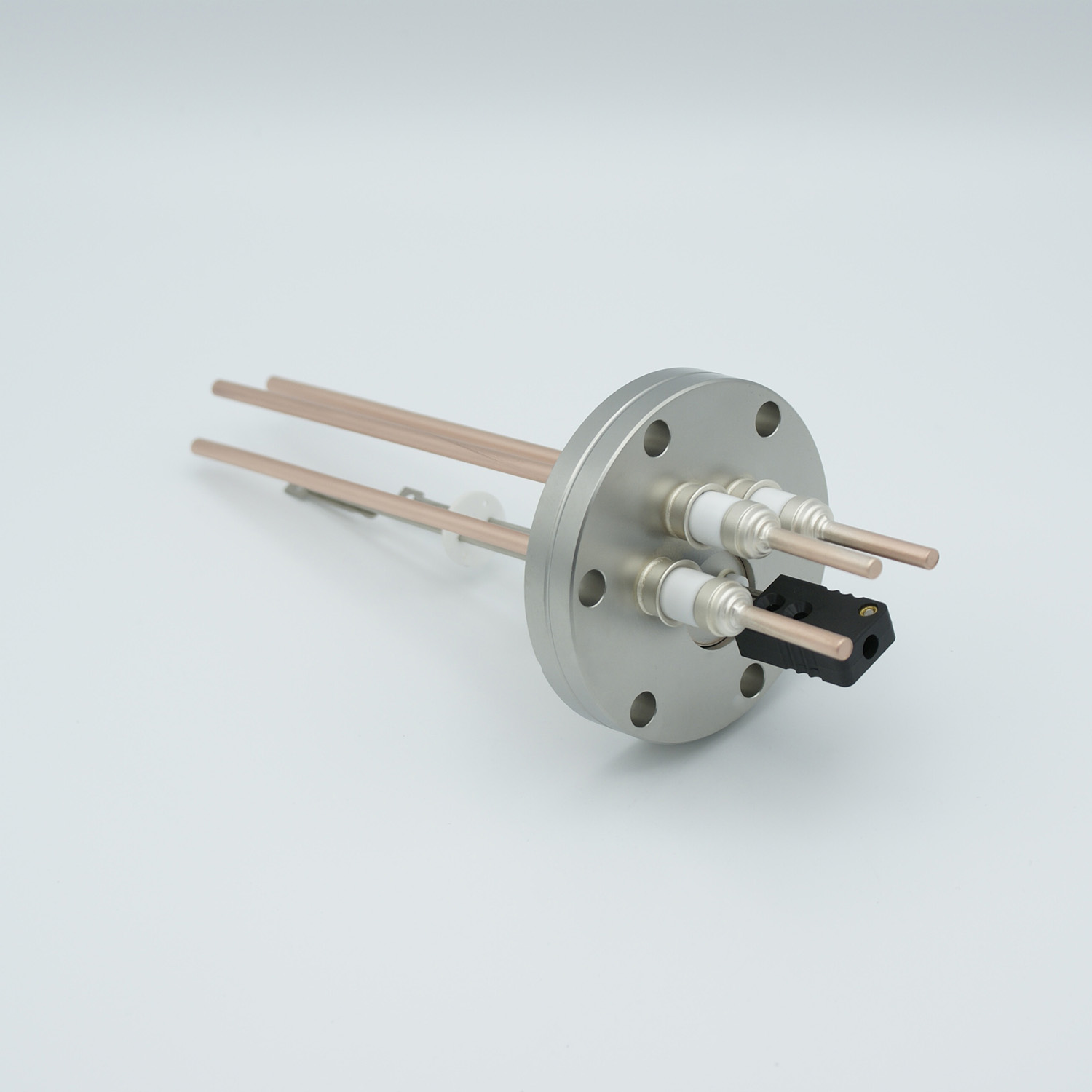 1 pair Thermocouple type-J and 3 copper power pins feedthrough 5000V, with TC connectors included, DN40CF flange