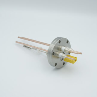 1 pair Thermocouple type-K and 3 copper power pins feedthrough 5000V, with TC connectors included, DN40CF flange