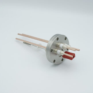 1 pair Thermocouple type-C and 3 copper power pins feedthrough 5000V, with TC connectors included, DN40CF flange