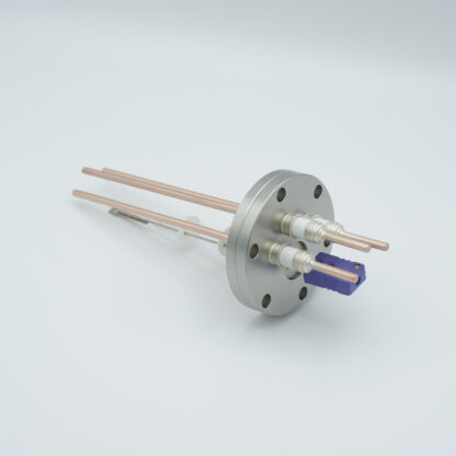 1 pair Thermocouple type-E and 3 copper power pins feedthrough 5000V, with TC connectors included, DN40CF flange