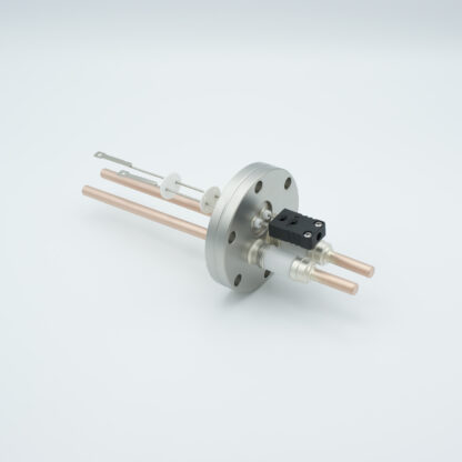 1 pair Thermocouple type-J and 1 pair copper feedthrough 5000V, with TC connectors included, DN40CF flange