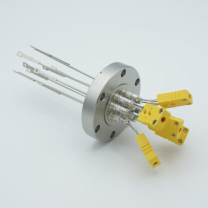 5 pair Thermocouple type-J feedthrough with both side connectors included, DN40CF flange