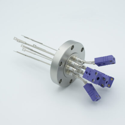 5 pair Thermocouple type-E feedthrough with both side connectors included, DN40CF flange