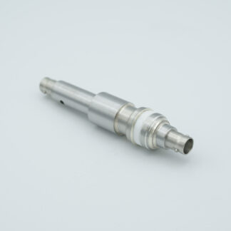 Floating shield, double ended SHV-5 feedthrough with recessed contacts, air side connector included, weld fitting