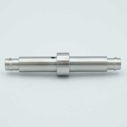 Grounded shield, double ended BNC feedthrough, weld fitting, without air side connector