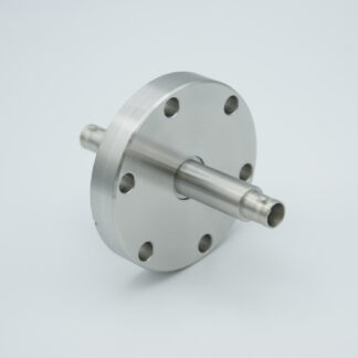 Grounded shield, double ended MHV feedthrough 5000V / 3 Amp, air side connector included, DN40CF