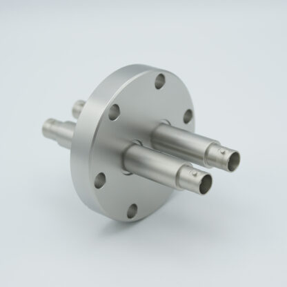2 of grounded shield, double ended SHV-10 Amp 10000 VDC feedthrough, air side connector included DN40CF