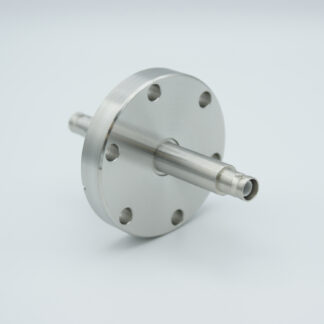 1 of grounded shield, double ended SHV-5 Amp 5000 VDC feedthrough, air side connector included DN40CF