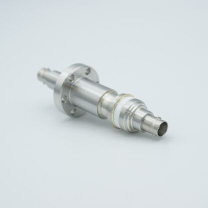 Floating shield, double ended MHV feedthrough 5000V / 3 Amp, air side connector included, DN19CF flange