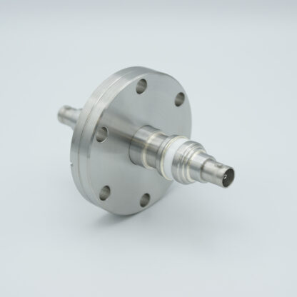 Floating shield, double ended MHV feedthrough 5000V 3 Amp, DN40CF flange, without air side connector