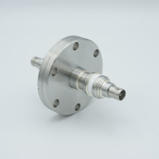 Floating shield, double ended MHV feedthrough 5000V / 3 Amp, air side connector included, DN40CF flange