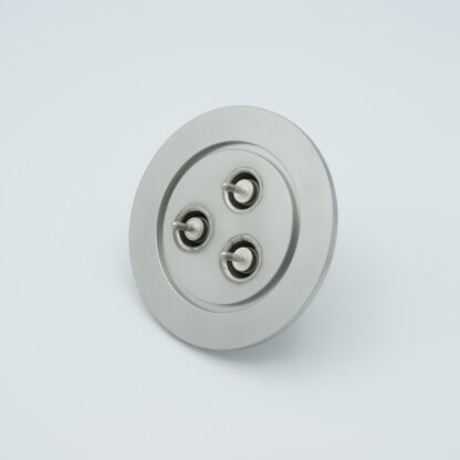 3 of grounded shield, single ended BNC feedthrough 500V / 3 Amp, air side connector included, DN50KF flange
