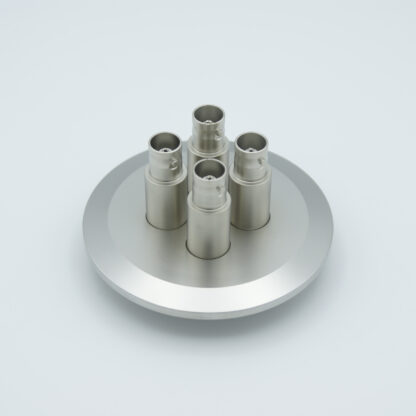 4 of grounded shield, single ended BNC feedthrough 500V / 3 Amp, air side connector included, DN50KF flange