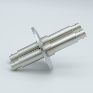 2 of grounded shield, double ended MHV feedthrough 5000V / 3 Amp, air side connector included, DN40KF flange