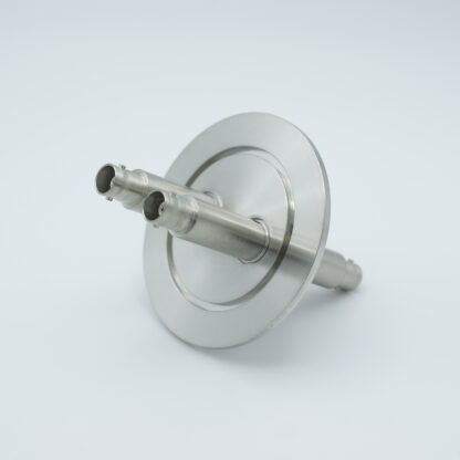 2 of grounded shield, double ended MHV feedthrough, air side connectors included, DN50KF flange