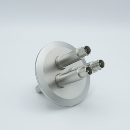 3 of grounded shield, double ended MHV feedthrough 5000V / 3 Amp, air side connector included, DN50KF flange