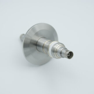 Floating shield, double ended BNC feedthrough 500V 3 Amp, DN40KF flange without air side connector