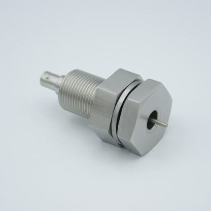 "Grounded shield, single ended SHV-5 feedthrough 5000V 3 Amp, 1"" baseplate fitting without air side connector"