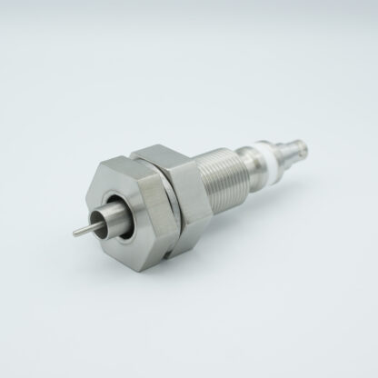 """Floating shield, single ended BNC feedthrough 500V / 3 Amp, air side connector included, 1"""" baseplate fitting"""