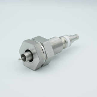 """Floating shield, single ended SHV-5 feedthrough 5000V 3 Amp, 1"""" baseplate fitting without air side connector"""