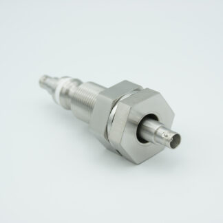 """Floating shield, double ended BNC feedthrough 500V / 3 Amp, air side connector included, 1"""" baseplate fitting"""