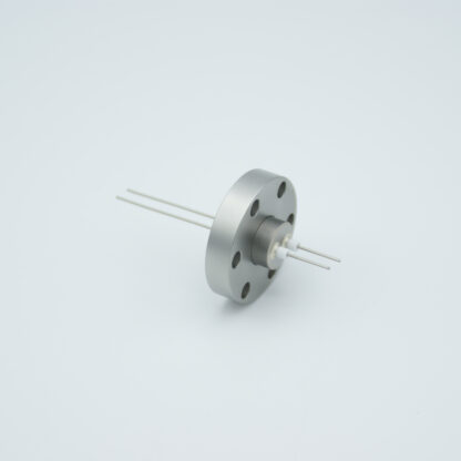2 pin Stainless steel conductor feedthrough 500V / 1 Amp. DN19CF flange