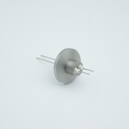 2 pin Stainless steel conductor feedthrough 500V / 1 Amp. DN16KF flange