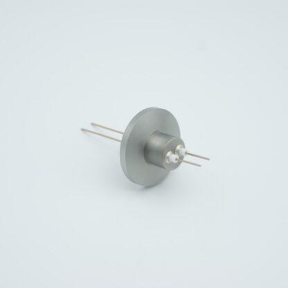 2 pin Nickel conductor feedthrough 500Volt / 2 Amp. DN16KF flange
