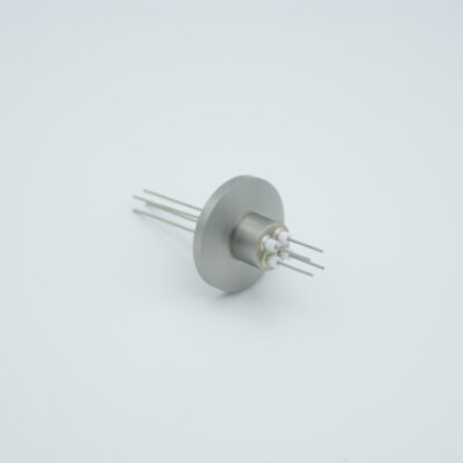4 pin Stainless steel conductor feedthrough 500V / 1 Amp. DN16KF flange