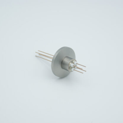 4 pin Nickel conductor feedthrough 500Volt / 2 Amp. DN16KF flange
