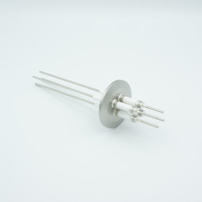 4 pin Nickel conductor feedthrough 10000Volt / 15 Amp. DN40KF flange