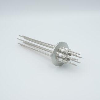 8 pin Molybdenum conductor feedthrough 5000Volt / 28 Amp. DN40KF flange