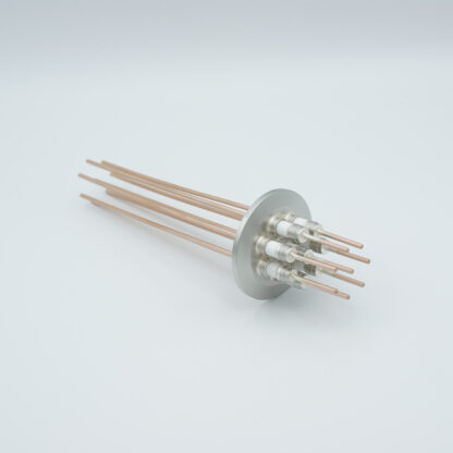 8 pin Nickel conductor feedthrough 5000Volt / 15 Amp. DN40KF flange