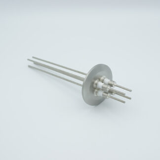 4 pin Molybdenum conductor feedthrough 5000Volt / 28 Amp. DN40KF flange
