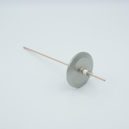 1 pin Copper conductor feedthrough 5000Volt / 30 Amp. DN40KF flange