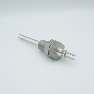 4 pins feedthrough 2000Volt / 3 Amp. Stainless steel conductor, base plate fitting
