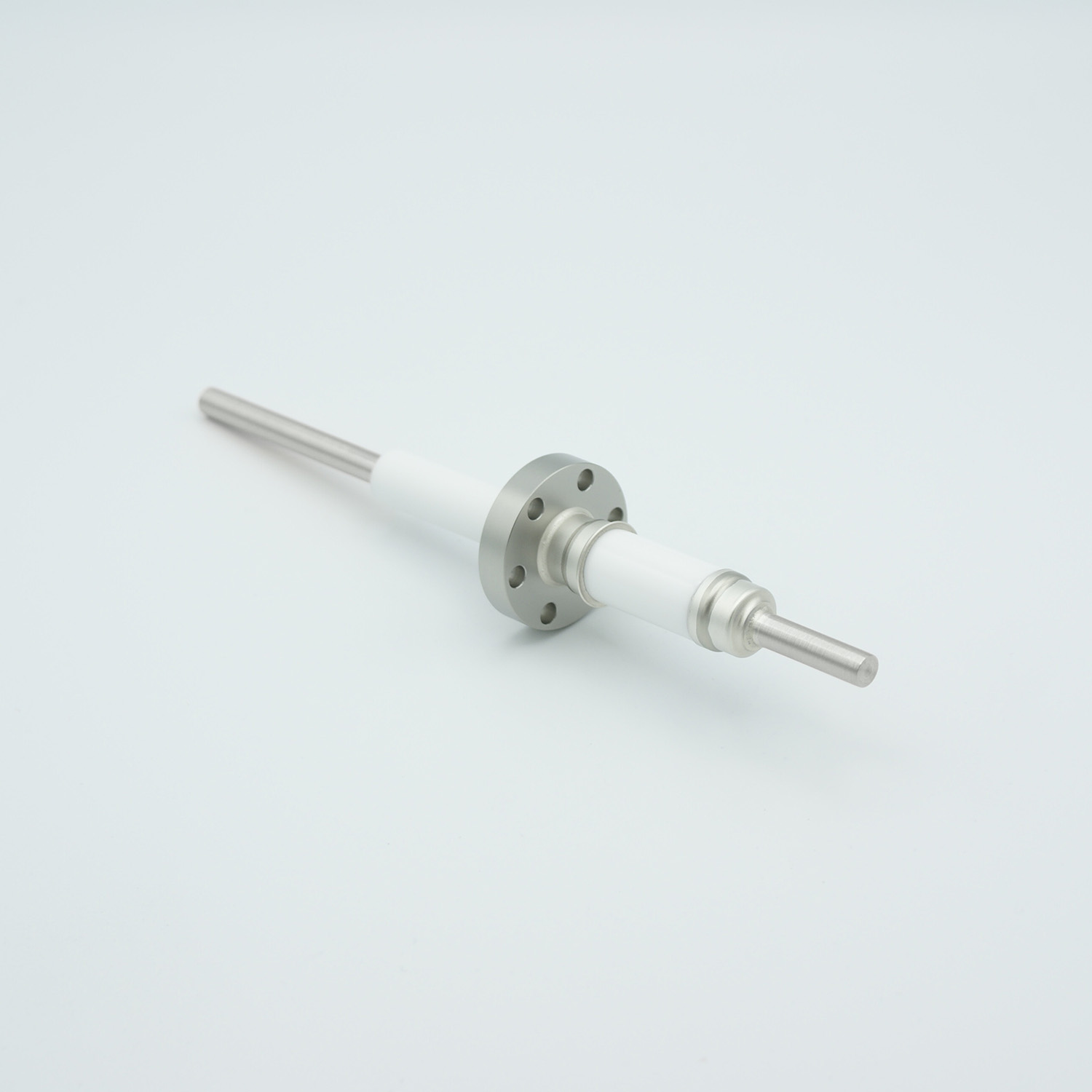 1 pin high voltage feedthrough 12000V / 7 Amp. Stainless steel conductor, DN19CF flange