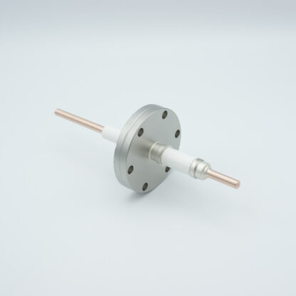 1 pin high voltage feedthrough 12000V / 55 Amp. Nickel conductor, DN40CF flange