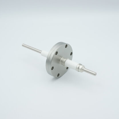 1 pin high voltage feedthrough 12000V / 7 Amp. Stainless steel conductor, DN40CF flange
