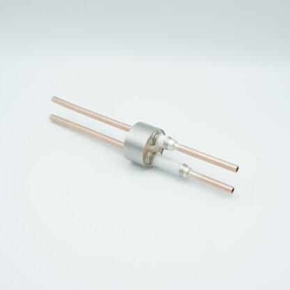 2 pin RF-feedthrough 8000V / 10 kW, weld fitting