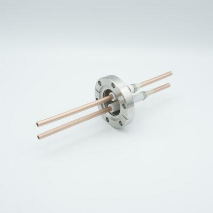2 pin RF-feedthrough 8000Volt / 10 kW, DN40CF flange